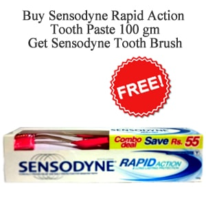 Sensodyne Rapid Action Tooth Paste Brush Pack 100gm (gsk)